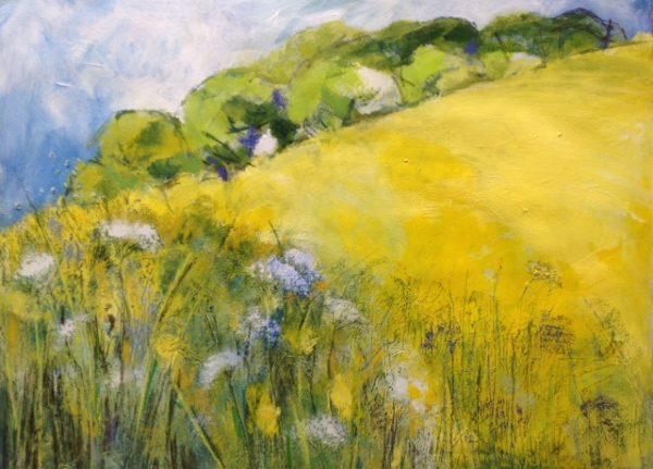 Acrylic and pastel Original painting 'Heady Days'