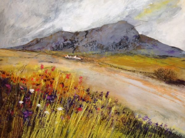 Acrylic and pastel Original painting 'Carn Lidi'
