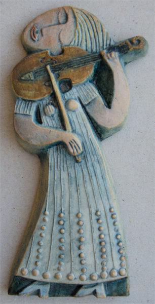 Ceramic Relief Violin