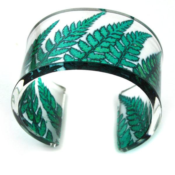 Acrylic Cuff Viridian Green Fern