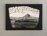 Ceramic Wall Mounted 'Flight Over Peak' Printed Stoneware