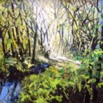 Acrylic and pastel Original painting 'Wet Spring 2018'