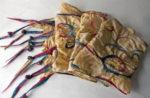 Hand dyed silk and wool scarf 'Swirls'