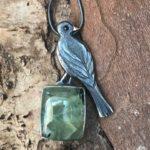 Silver Pendant with Blackbird 'Morning Song'