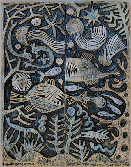 Ceramic Relief Deep Sea