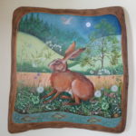 Hand painted Oak panel 'Magical Night'