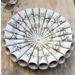 Ceramic Medium Leaf Cone Bowl with 24ct Gold Leaf