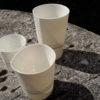 Hand Built Porcelain Lines Vessel Medium