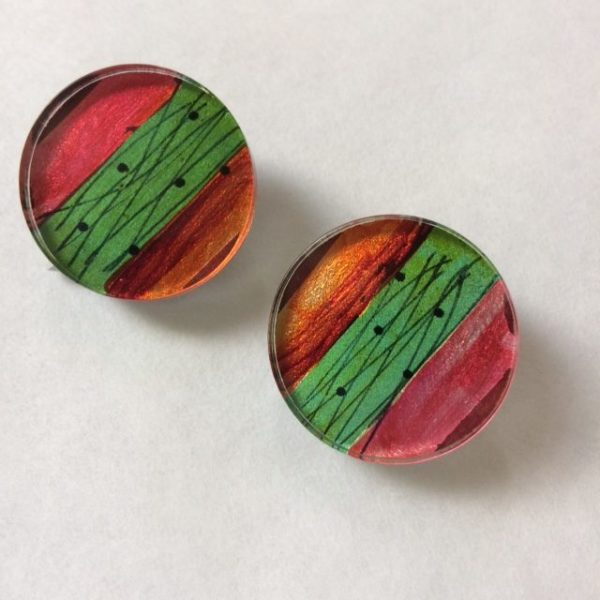 Acrylic Block Clip Earrings