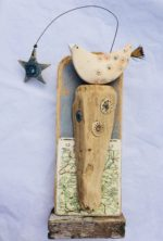 Ceramic and Driftwood Star Gazing