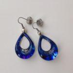 Acrylic Shark Eye Drop Earrings in Azure