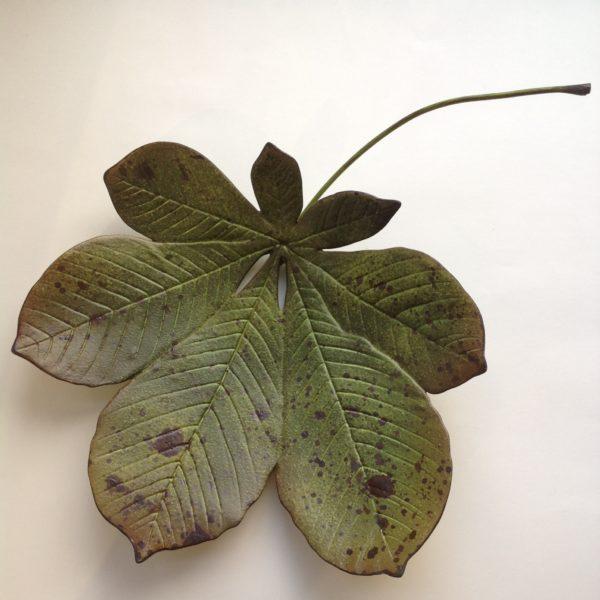 Ceramic Horse Chestnut Leaf