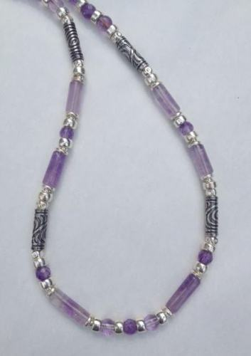 Silver & Amethyst necklace