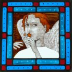Stained Glass Angel Panel
