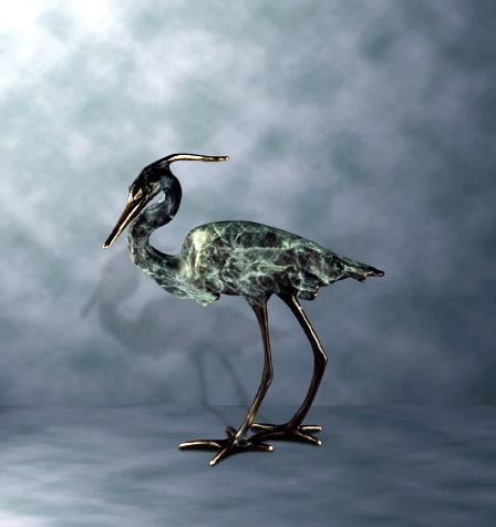 Bronze heron