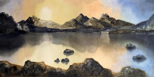 'The Snowdon Panorama Afterglow'