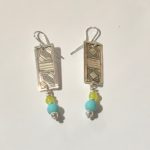 Turquoise and Serpentine Earrings