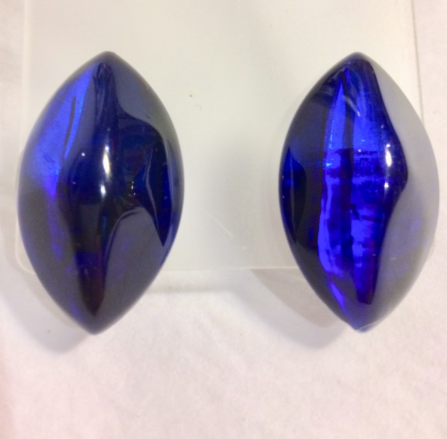 Acrylic Marquise Stud Earrings in Azure