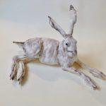 Porcelain Resting Hare Sculpture