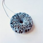 White & Silver Polythene Daisy Necklace