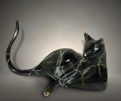 Bronze cat by Michael Storey