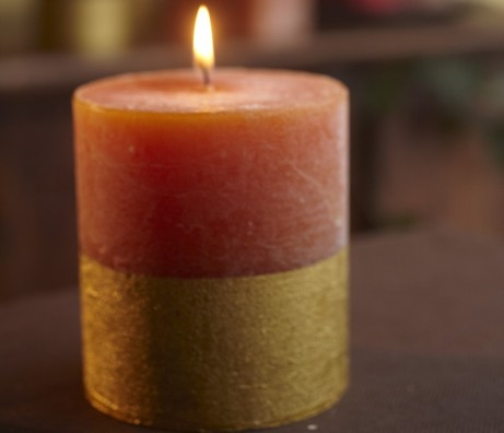 Orange & Cinnamon Gold Dipped Candle