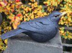 Stoneware Blackbird sculpture