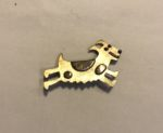 Brass & Bronze Running Dog Brooch