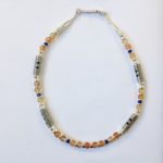 Silver with Orange Agate Necklace