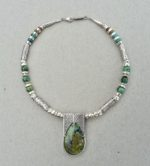 Silver Window Necklace with Turquoise
