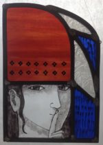 Stained Glass Panel Quiet Woman