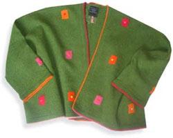 Felted Merino wool cropped Jacket