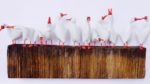 Hand Carved Sculpture 'Goose Gang'