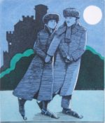 Etching by Frans Wesselman - Ice