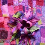 Felted wall hanging - detail.