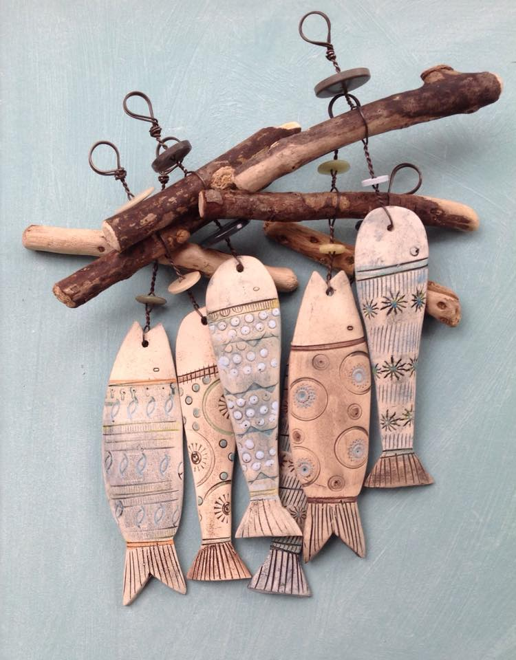 Ceramic fish hang ups