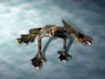 Bronze Sitting Frog