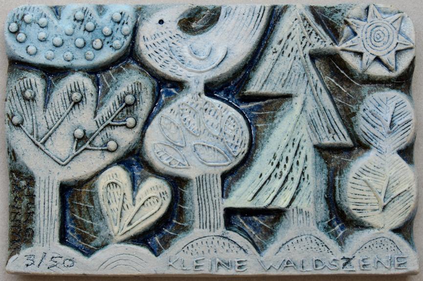 Ceramic Relief, Kleine Waldszene