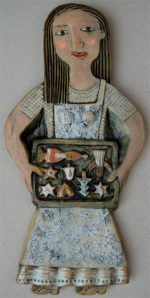 Ceramic Relief Christmas Biscuits