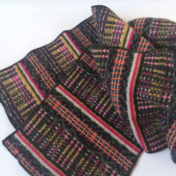 Pure Wool Scarf in Charcoal