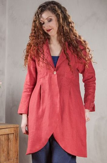 Long Scoop Linen Jacket