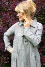 Winter button shirt dress