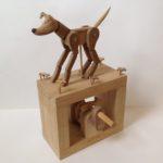Wooden Automata'Walnut Whippet'