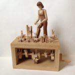 Lady Gardener Wooden Automata