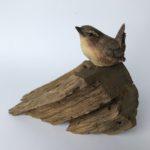 Stoneware Wren on Wood