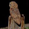 Stoneware Barn Owl on wooden post
