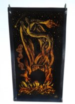 'Stained Glass Panel Out of the Fire