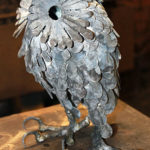 Forged Iron Little Owl