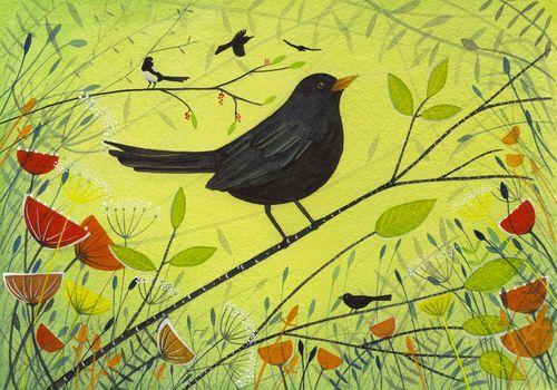 Giclee Print Spring Blackbird
