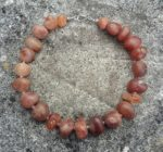 Necklace in Carnelian with Silver